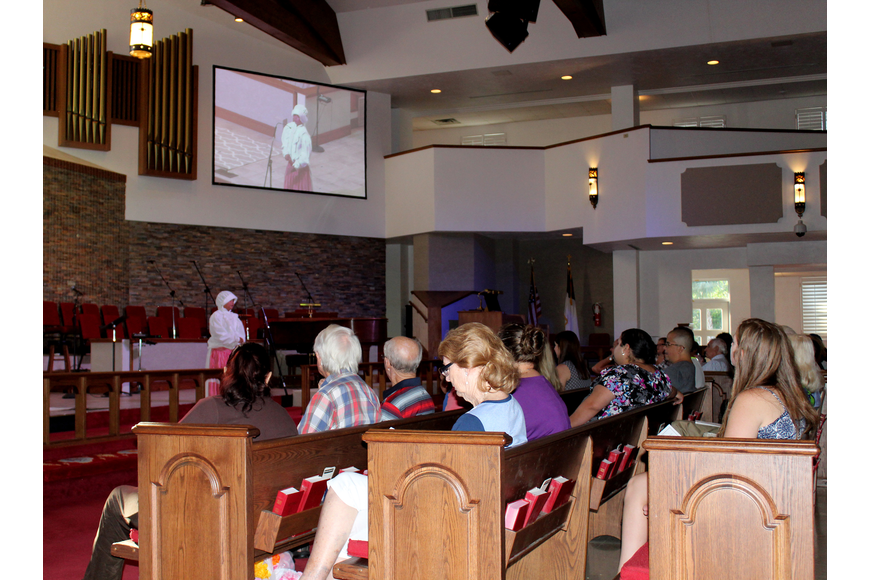 Family and friends filled the pews at the First United Methodist Church for the Great Kids'   Hero Fest. Photo by Jacque Estes
