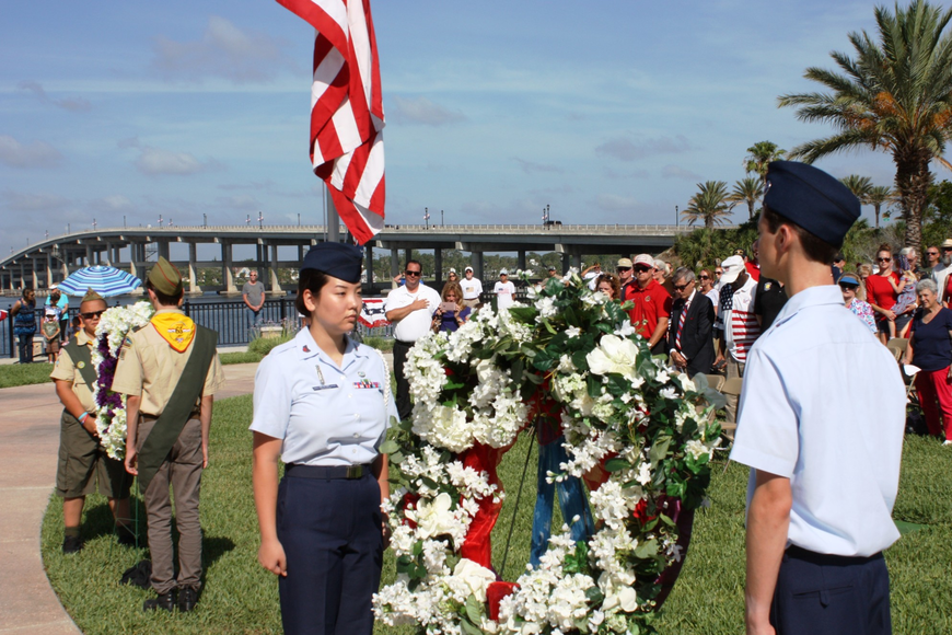 Members of Ormond Beach Civil Air Patrol and Boy Scouts Troop 65 attended the wreaths. Photos by Wayne Grant
