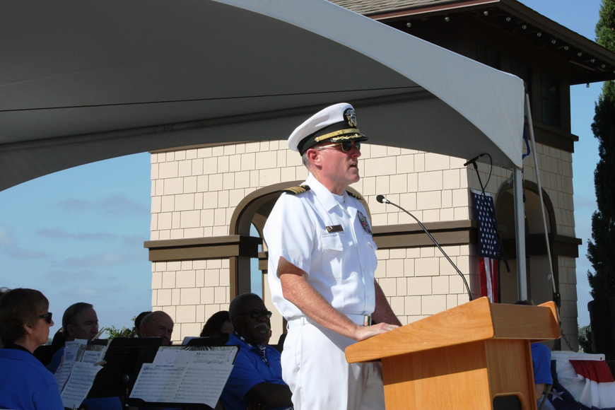 The Memorial Remembrance address was given by Capt. Randall Lynch, U.S. Navy (retired). Photos by Wayne Grant