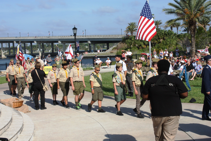Boy Scouts of America Troop 65 took part in the ceremony. Photos by Wayne Grant