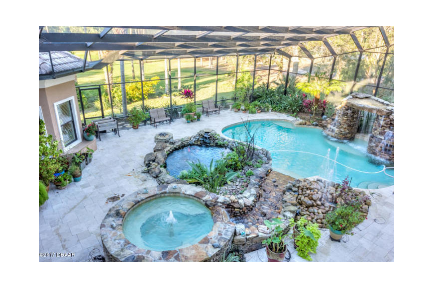 The house features a swimming pool. Courtesy photo