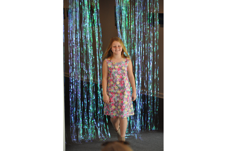 Abry Allen, 9, during the Fashionista Camp fashion show on June 30, at the Ormond Memorial Art Museum.