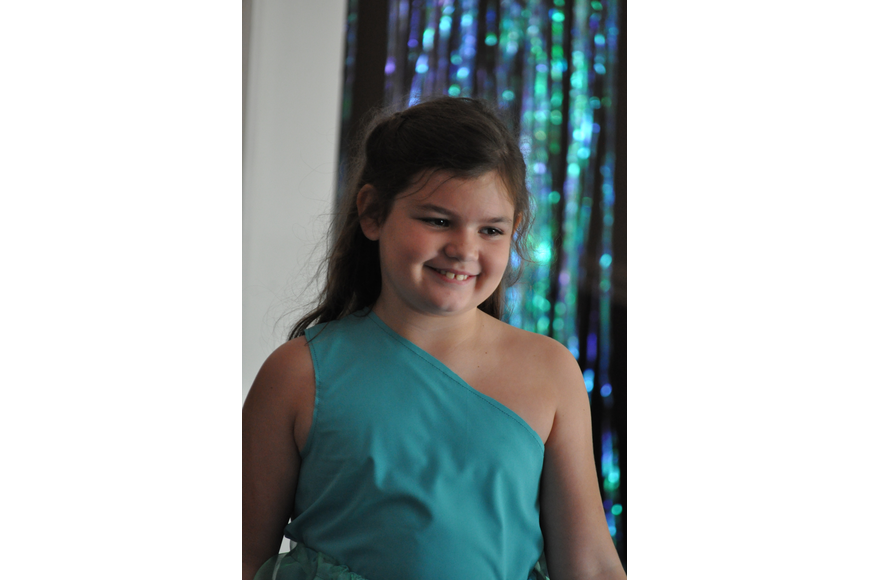 Carley Bandell, 8, during the Fashionista Camp fashion show on June 30, at the Ormond Memorial Art Museum.