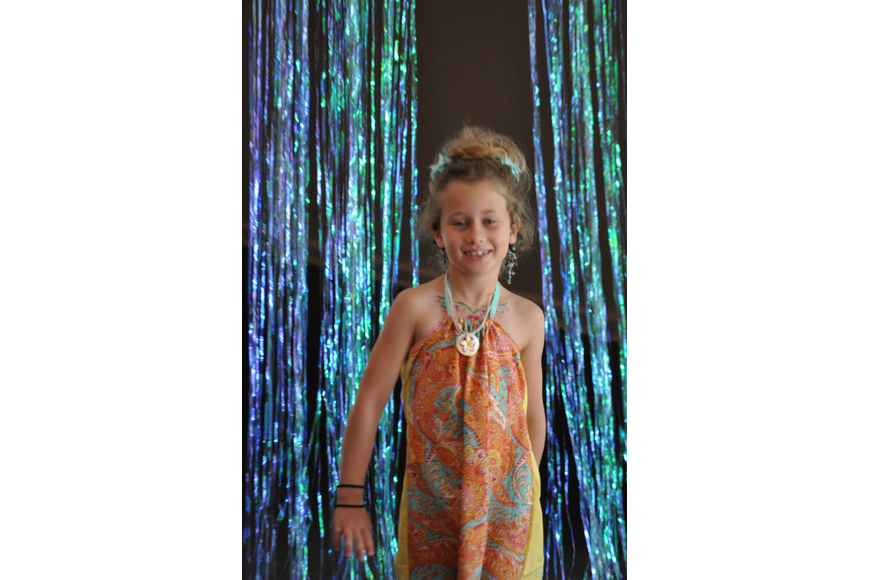 Audrey Brown, 7, during the Fashionista Camp fashion show on June 30, at the Ormond Memorial Art Museum.
