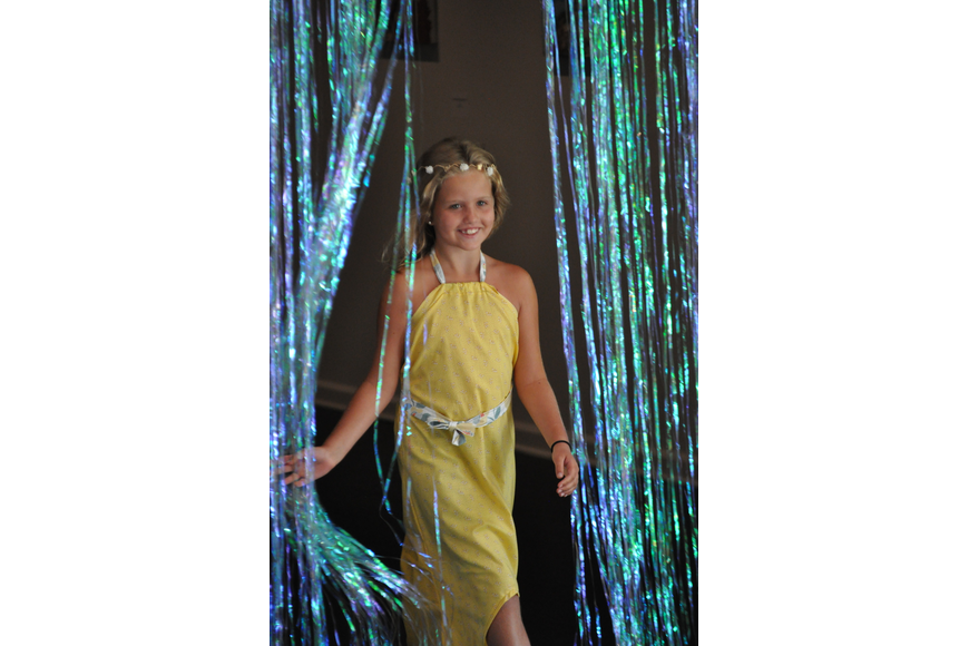 Gabby Buckner, 9, during the Fashionista Camp fashion show on June 30, at the Ormond Memorial Art Museum.