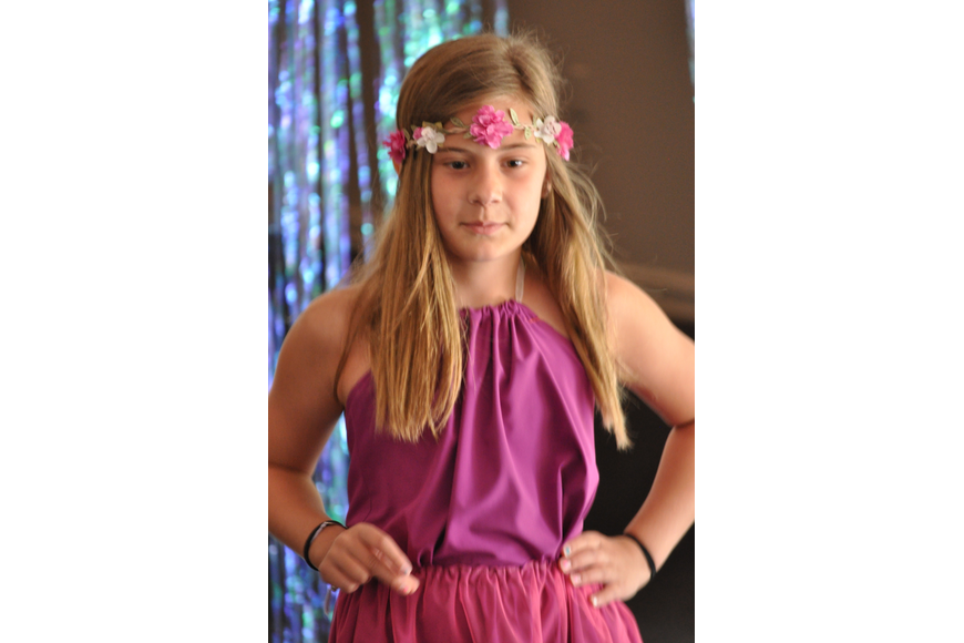 Betty Bunch, 9, during the Fashionista Camp fashion show on June 30, at the Ormond Memorial Art Museum.