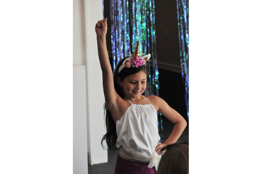 Giuliana Giannini, 8, during the Fashionista Camp fashion show on June 30, at the Ormond Memorial Art Museum.