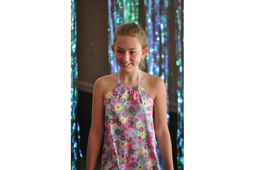 Rainey Jackson, 11, during the Fashionista Camp fashion show on June 30, at the Ormond Memorial Art Museum.