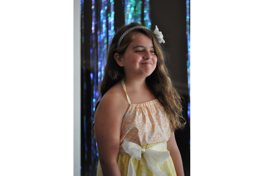 Michelle Martin, 10, during the Fashionista Camp fashion show on June 30, at the Ormond Memorial Art Museum.