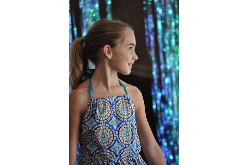 Hannah Neumann, 9, during the Fashionista Camp fashion show on June 30, at the Ormond Memorial Art Museum.