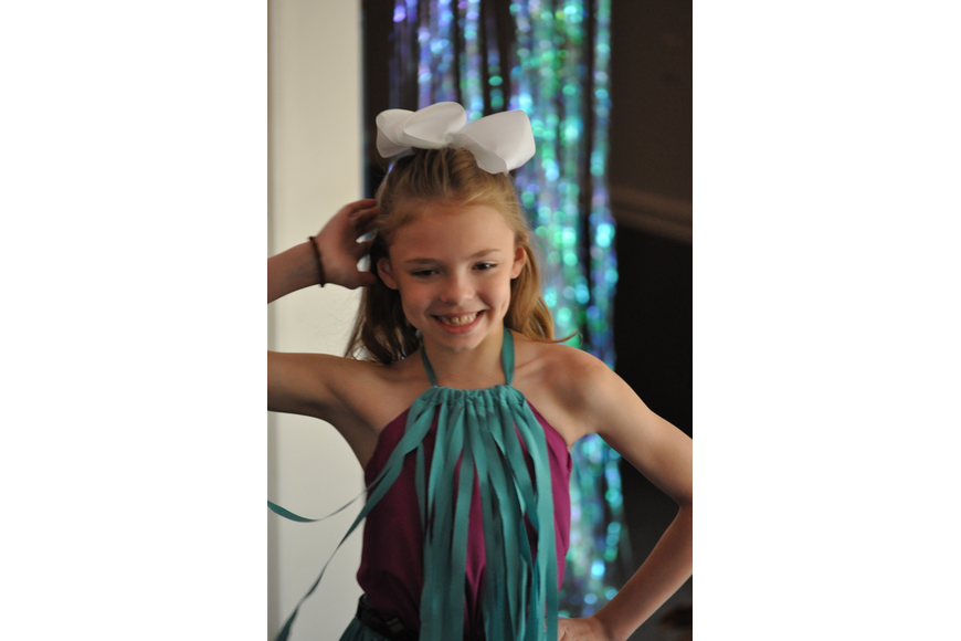 Sophia Senay, 9, during the Fashionista Camp fashion show on June 30, at the Ormond Memorial Art Museum.