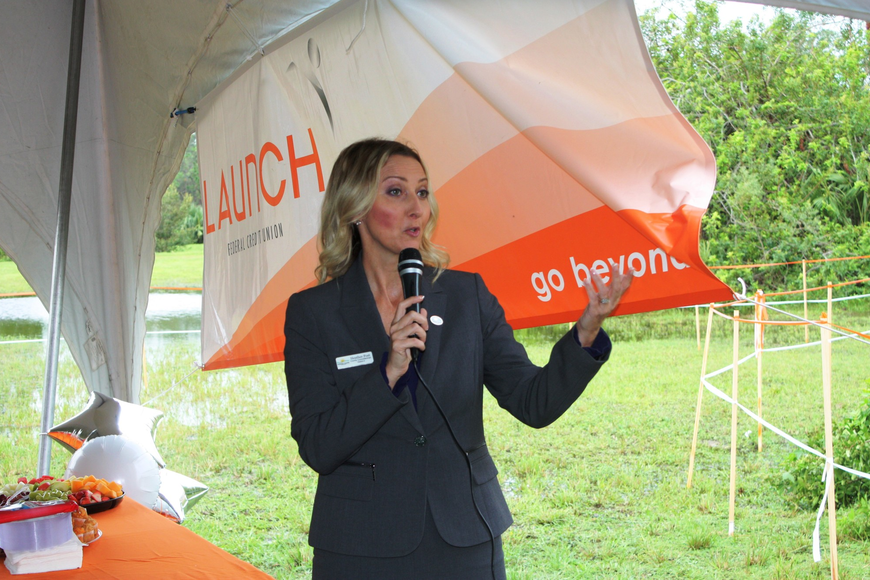 Heather Post, County Commissioner for Zone 4, which includes Ormond Beach, welcomed the new credit union. Photo by Wayne Grant