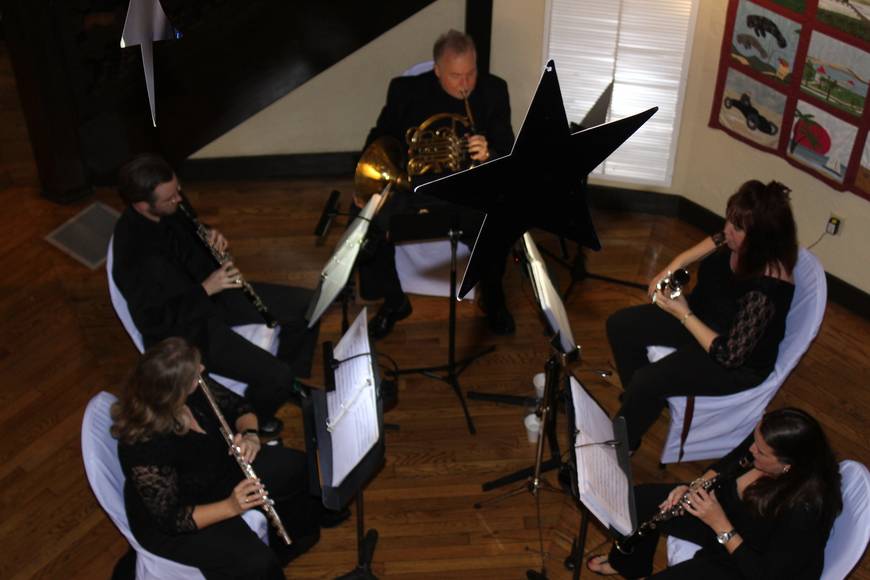 The view from the second floor as the woodwind quintet brings The Casements alive with music during the 29th-annual
