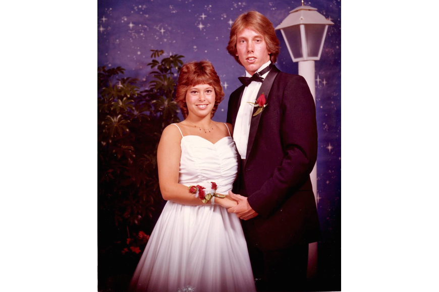 Kristin and Jeff Peterson at senior prom in 1983. Courtesy photo