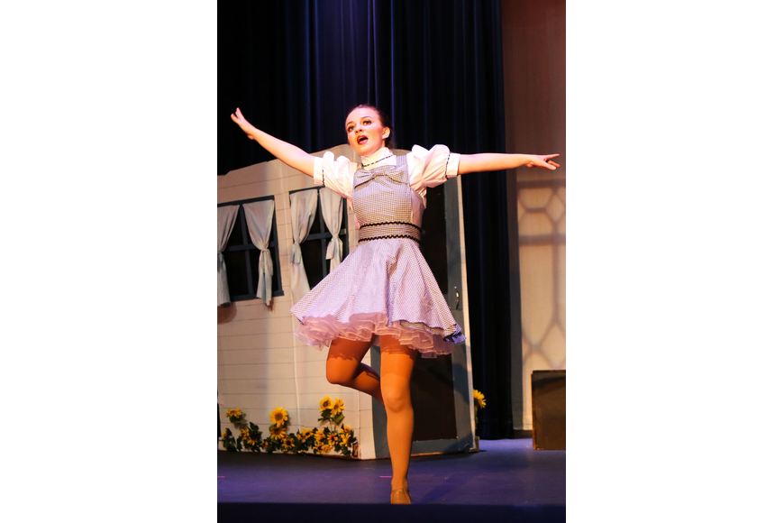 Lynne Rosolino performs as Dorothy in her senior show. Photo by Paige Wilson