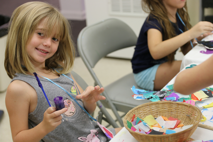 Ella Pender smiles during OMAM's Bling Fling: Mermaid Camp on Tuesday, July 31. Photo by Jarleene Almenas