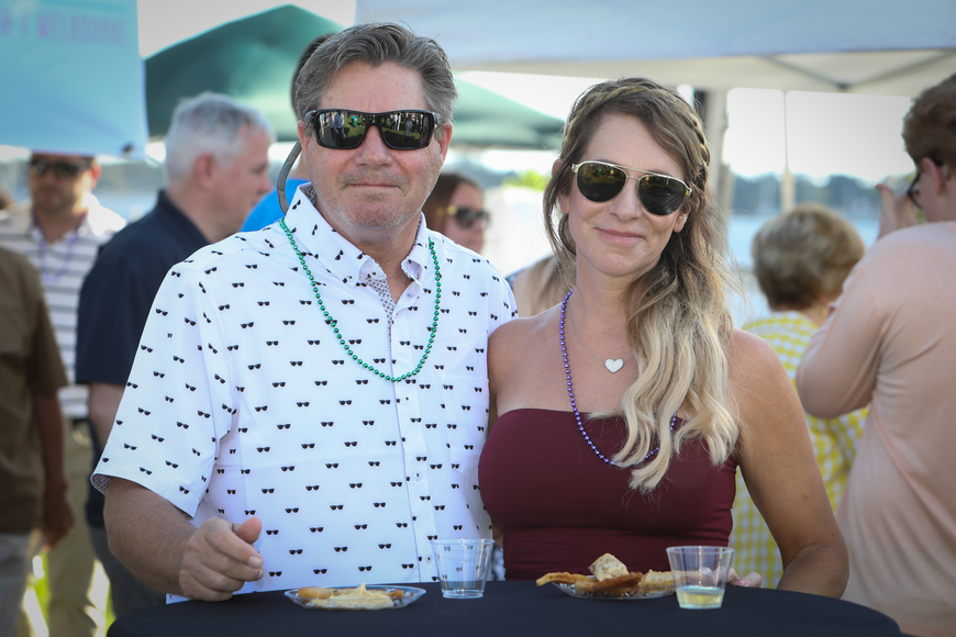 Steve and Jennifer O'Dwyer take a break from the great food at the sixth-annual Taste of Ormond event on Sunday, March 3,  at the Casements. Photo by Anthony Boccio