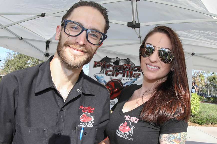 Kaleb and Larissa Starr, of Ormond Beach, represented the Piranha Grill at the sixth-annual Taste of Ormond event on Sunday, March 3,  at the Casements. Photo by Anthony Boccio
