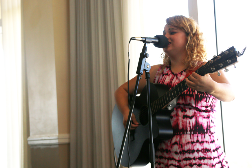 Michele Marie sings at the Victims' Rights Week Breakfast & Awards Ceremony on Friday, April 12. Photo by Jarleene Almenas