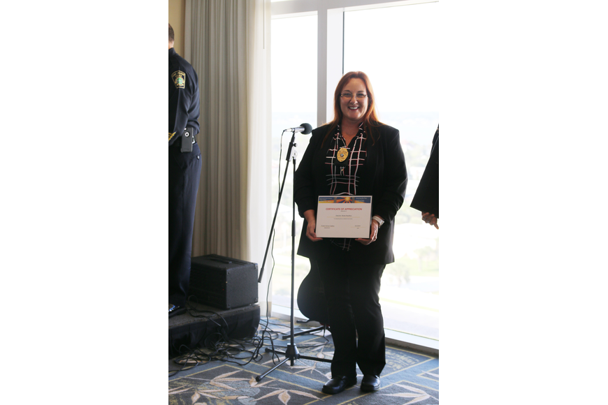 Detective Benita Hamilton was nominated for recognition at the Victims' Rights Week Breakfast & Awards Ceremony on Friday, April 12. Photo by Jarleene Almenas