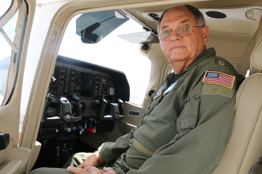 Lt. Col. Larry Fernald has been flying for almost 50 years. Photo by Jarleene Almenas