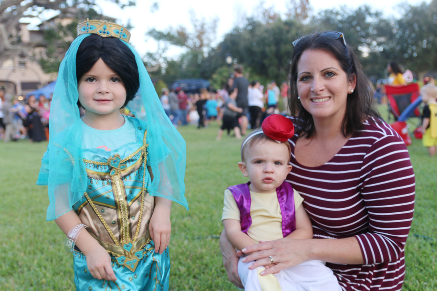 Gabriella, Jacob and Ashley Cirolia were just missing a magic carpet during the Movies at the Halifax event at Rockefeller Gardens on Friday, Oct. 4. Photo by Jarleene Almenas