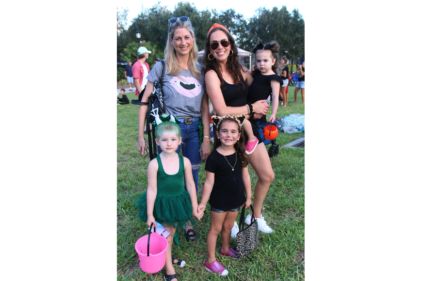Amy and Vera Shekhter with Melissa, Marlowe and Adeline Frankel were ready to trunk or treat during the Movies at the Halifax event at Rockefeller Gardens on Friday, Oct. 4. Photo by Jarleene Almenas