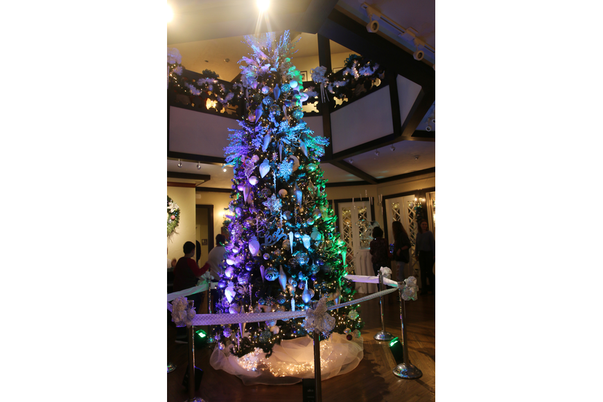 The Christmas tree inside the Casements was decked out in all its Northern Lights glory. Photo by Jarleene Almenas