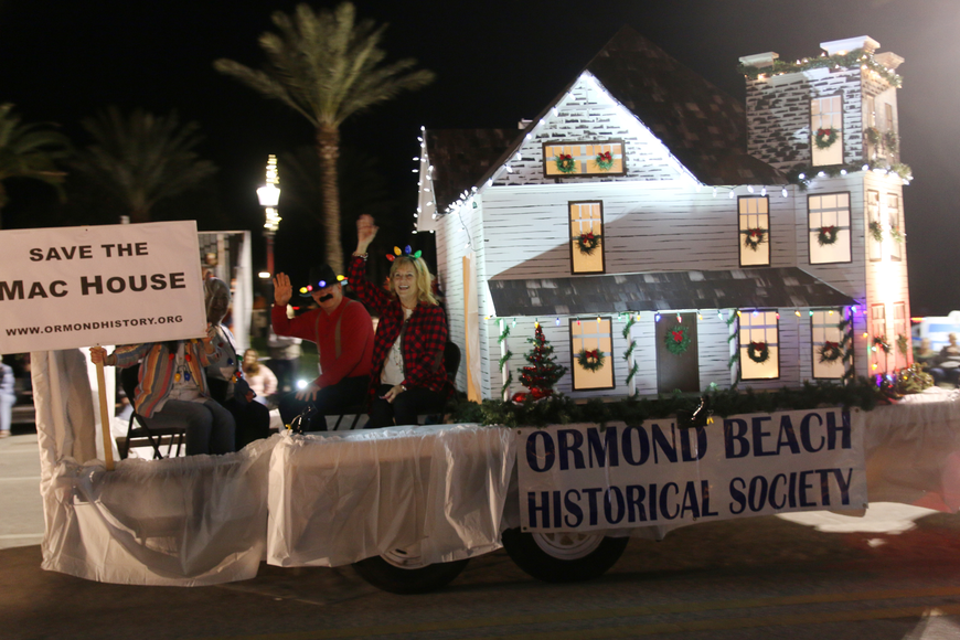 The Ormond Beach Historical Society takes part in the Home for the Holidays parade, held on Saturday, Dec. 14. Photo by Jarleene Almenas