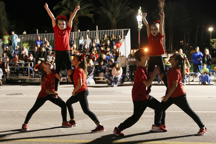 Delta 5 gym performs a routine at the Home for the Holidays parade, held on Saturday, Dec. 14. Photo by Jarleene Almenas