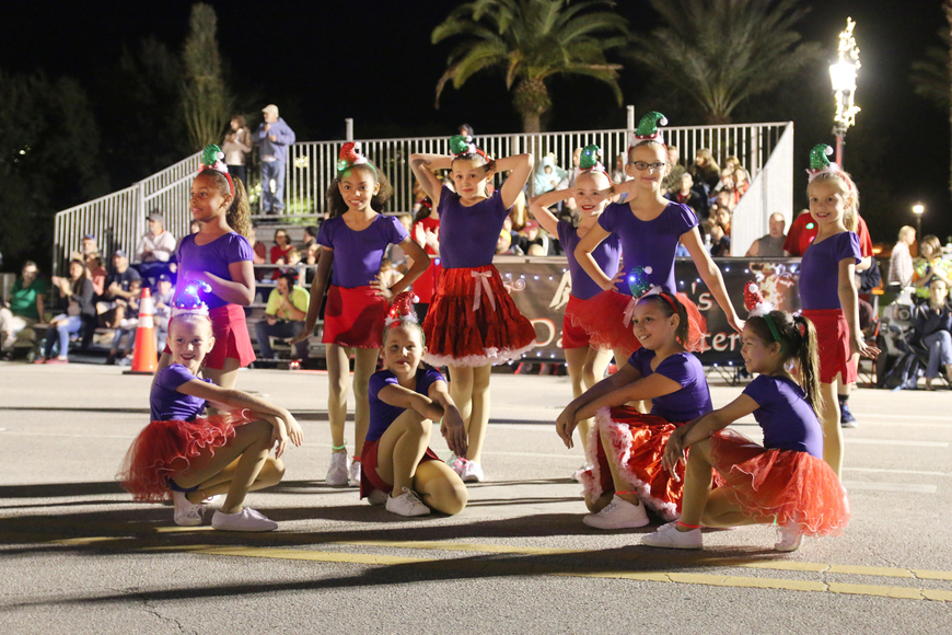 Amanda's Dance Center performs a routine before parade judges at the Home for the Holidays parade, held on Saturday, Dec. 14. Photo by Jarleene Almenas