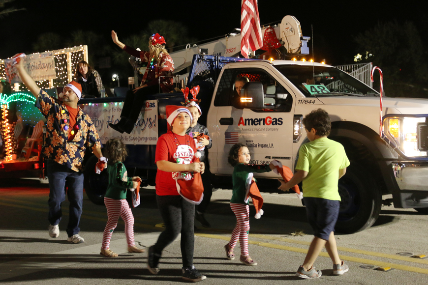 AmeriGas takes part in the Home for the Holidays parade, held on Saturday, Dec. 14. Photo by Jarleene Almenas