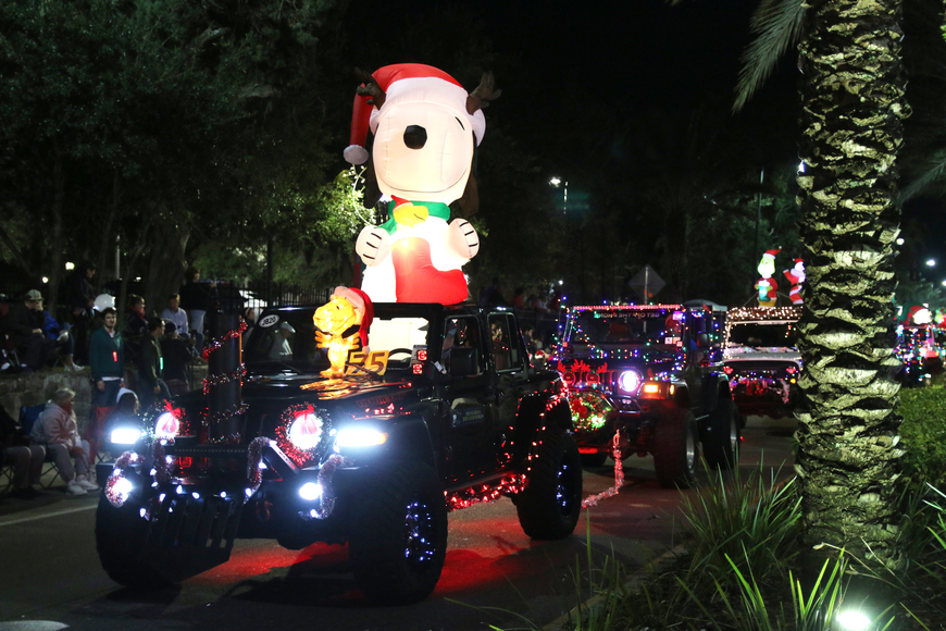 Decorated Jeeps line the streets of downtown for the Home for the Holidays parade, held on Saturday, Dec. 14. Photo by Jarleene Almenas