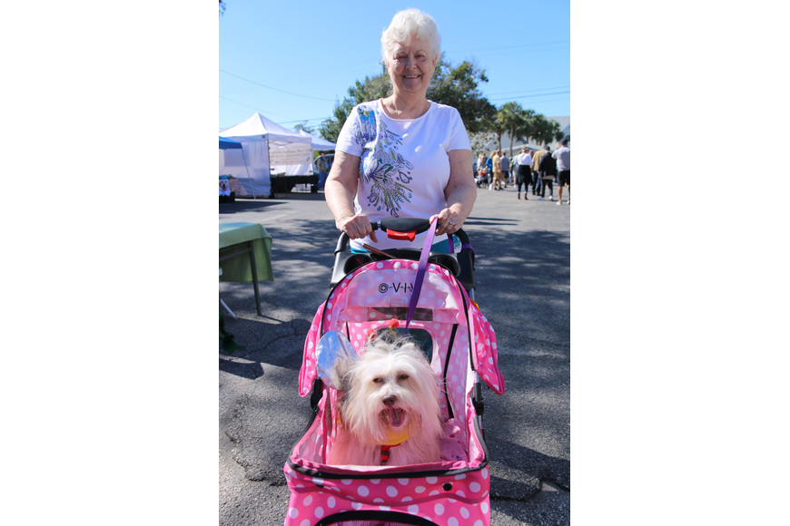 Hazel Stewart, of Port Orange, and Jasmine, enjoy the cool weather at OMAM's Dogapalooza 2020 on Saturday, Jan. 25. Photo by Jarleene Almenas