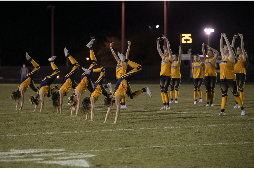 Tigerettes energize the fans at halftime. Photos by Michele Meyers