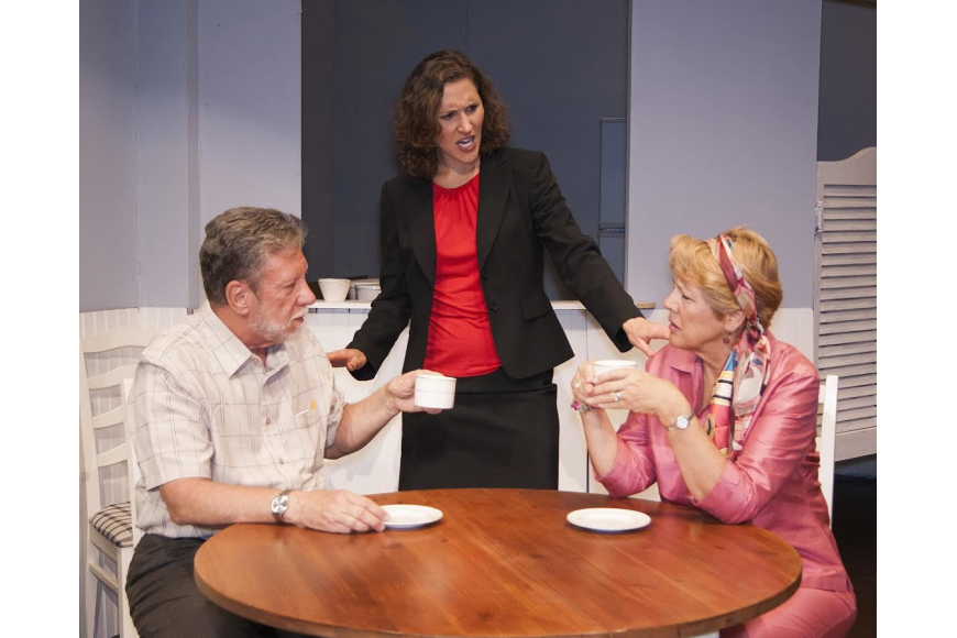 Alice (Barbara Reid in center) tries to quell another squabble between Abe (Tom Hansen) and Mildred (Dianne Pellaton.