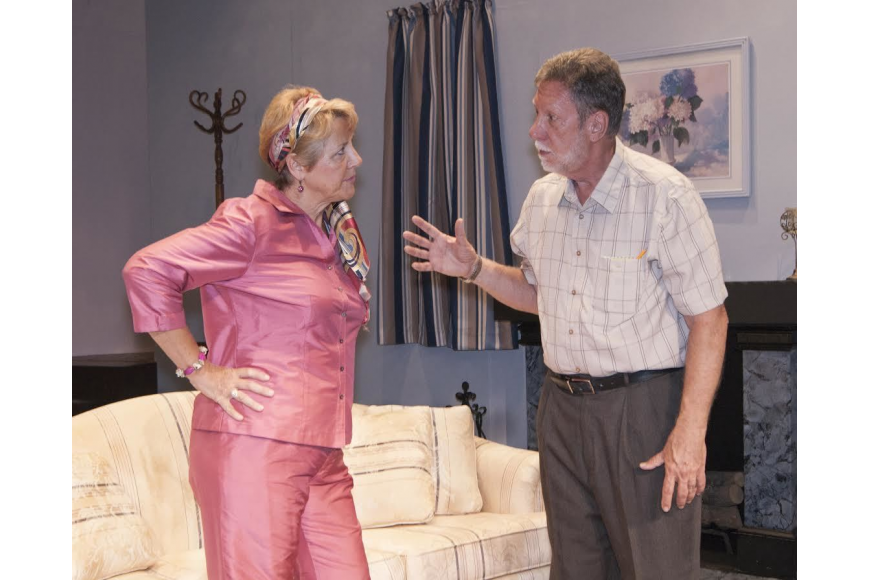 Mildred (Dianne Pellaton) and Abe (Tom Hansen) have another of the frequent squabbles.