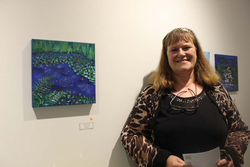 Juliet Bullen-Dunbar used art to help her cope PTSD after she left the Navy.