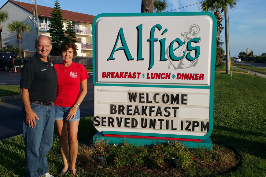 Greg and Dina Evans, owners of Alfie's Restaurant. Courtesy photo
