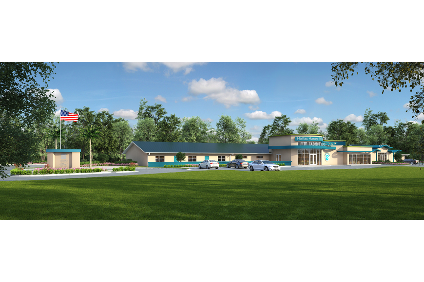 A rendering of what the future Adoption and Pet Center will look like.