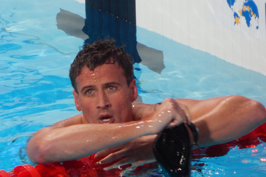 Ryan Lochte is shown after a race in this 2015 file photo. Courtesy photo