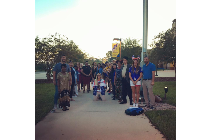Mainland High School students participated in the national act See You At The Pole.